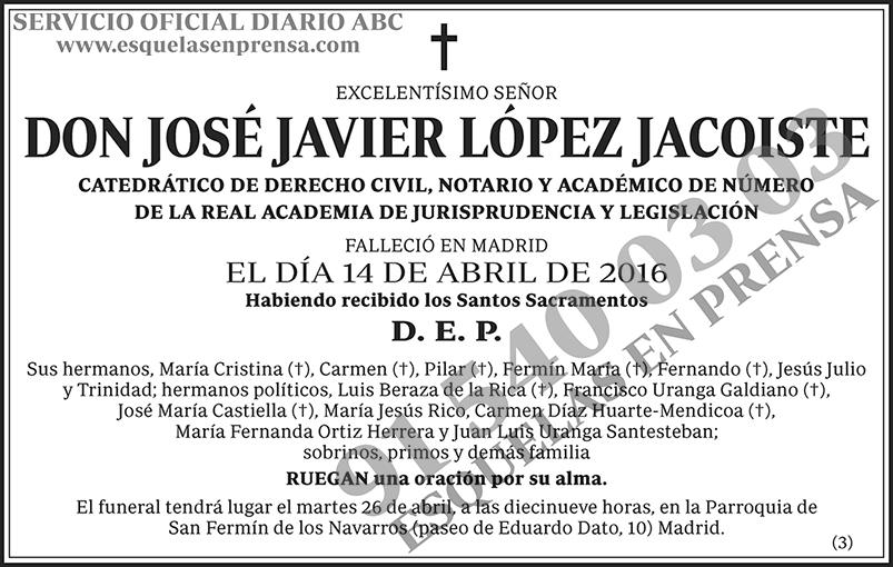 José Javier López Jacoiste